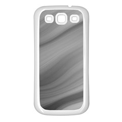Wave Form Texture Background Samsung Galaxy S3 Back Case (White)