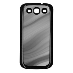 Wave Form Texture Background Samsung Galaxy S3 Back Case (Black)