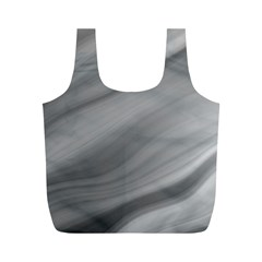 Wave Form Texture Background Full Print Recycle Bags (m)