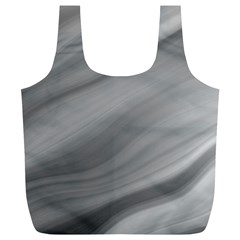 Wave Form Texture Background Full Print Recycle Bags (l)
