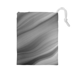 Wave Form Texture Background Drawstring Pouches (Large)