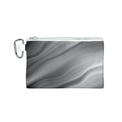 Wave Form Texture Background Canvas Cosmetic Bag (S)