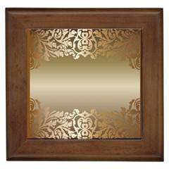 Floral Decoration Framed Tiles