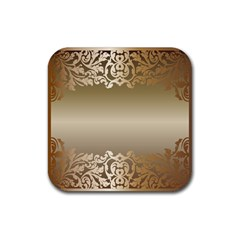 Floral Decoration Rubber Square Coaster (4 Pack)