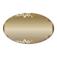 Floral Decoration Oval Magnet