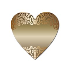 Floral Decoration Heart Magnet