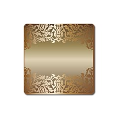 Floral Decoration Square Magnet