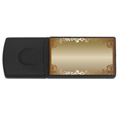 Floral Decoration USB Flash Drive Rectangular (1 GB)
