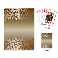 Floral Decoration Playing Card