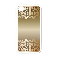 Floral Decoration Apple iPhone 4 Case (White)