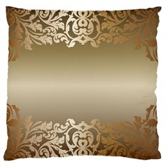 Floral Decoration Large Cushion Case (One Side)