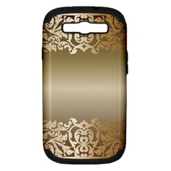 Floral Decoration Samsung Galaxy S III Hardshell Case (PC+Silicone)