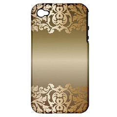 Floral Decoration Apple Iphone 4/4s Hardshell Case (pc+silicone)