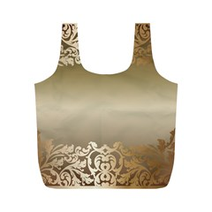 Floral Decoration Full Print Recycle Bags (M)