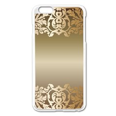 Floral Decoration Apple iPhone 6 Plus/6S Plus Enamel White Case