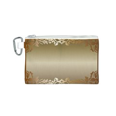 Floral Decoration Canvas Cosmetic Bag (S)