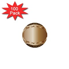 Floral 1  Mini Buttons (100 Pack)