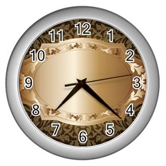 Floral Wall Clocks (Silver)