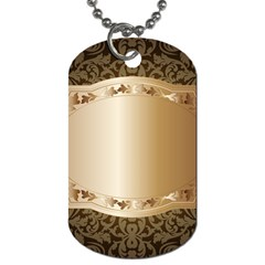 Floral Dog Tag (Two Sides)