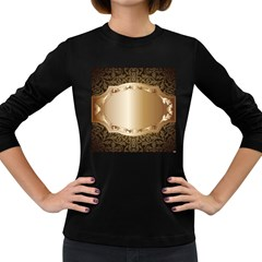 Floral Women s Long Sleeve Dark T-Shirts
