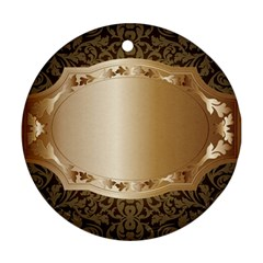 Floral Round Ornament (Two Sides)
