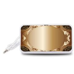 Floral Portable Speaker (White)