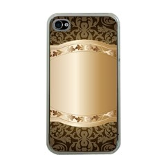 Floral Apple iPhone 4 Case (Clear)