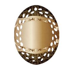 Floral Oval Filigree Ornament (Two Sides)