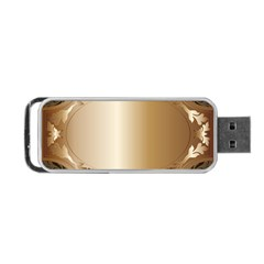 Floral Portable USB Flash (One Side)