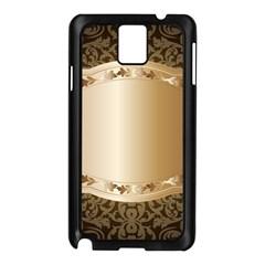 Floral Samsung Galaxy Note 3 N9005 Case (Black)