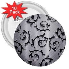 Floral 3  Buttons (10 pack)