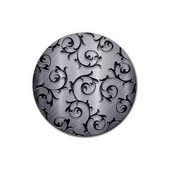 Floral Rubber Coaster (Round)