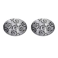 Floral Cufflinks (Oval)