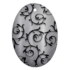 Floral Oval Ornament (Two Sides)