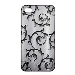 Floral Apple iPhone 4/4s Seamless Case (Black)