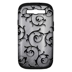 Floral Samsung Galaxy S III Hardshell Case (PC+Silicone)