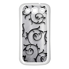 Floral Samsung Galaxy S3 Back Case (White)