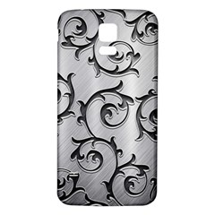 Floral Samsung Galaxy S5 Back Case (White)
