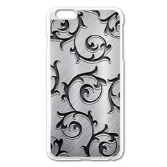 Floral Apple iPhone 6 Plus/6S Plus Enamel White Case
