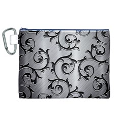 Floral Canvas Cosmetic Bag (XL)