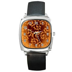 Floral Vintage Square Metal Watch