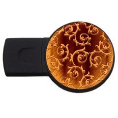 Floral Vintage USB Flash Drive Round (4 GB)