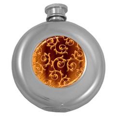 Floral Vintage Round Hip Flask (5 oz)