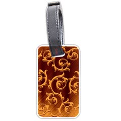 Floral Vintage Luggage Tags (One Side)