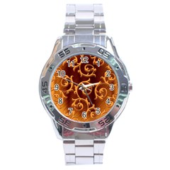 Floral Vintage Stainless Steel Analogue Watch