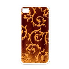 Floral Vintage Apple iPhone 4 Case (White)