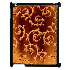 Floral Vintage Apple iPad 2 Case (Black)