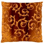 Floral Vintage Large Flano Cushion Case (One Side) Front