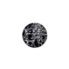 Floral High Contrast Pattern 1  Mini Buttons