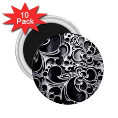 Floral High Contrast Pattern 2.25  Magnets (10 pack)